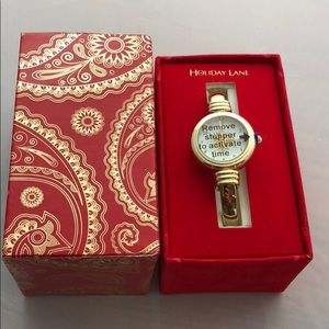 Accessories - Holiday Lane women gold watch